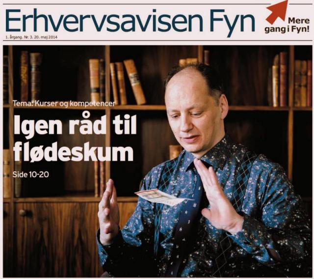 Forsiden på Erhvervsavisen Fyn, nr. 4. Udgivet tirsdag d. 20. maj 2014.