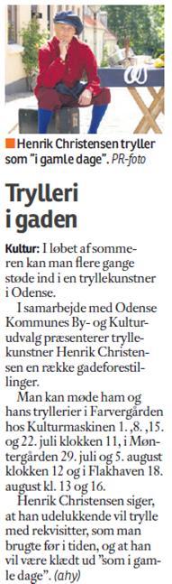 Omtale Fyens Stiftstidende søndag d. 22. juni 2014.