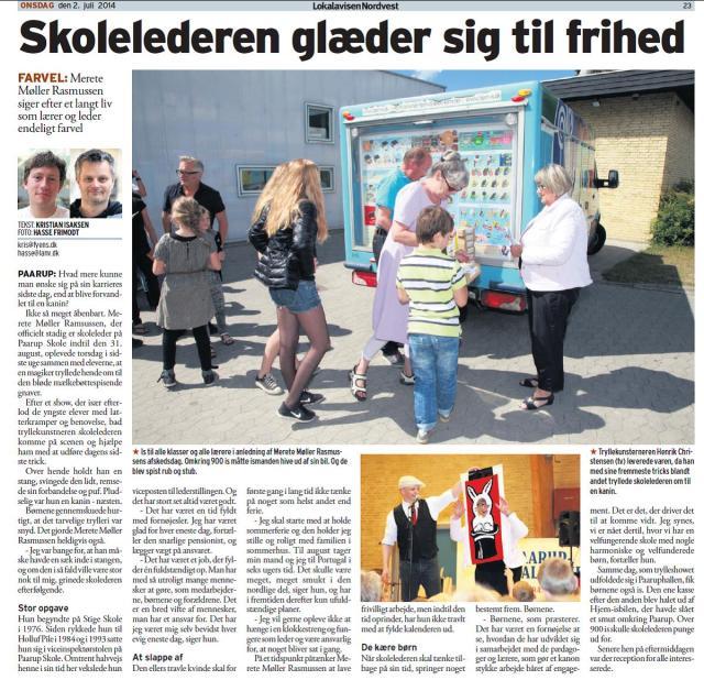 Lokalavisen Nordvest, Odense. 2. juli 2014.