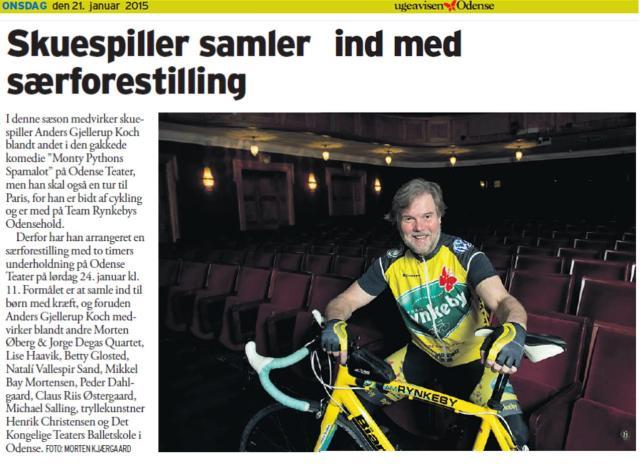 Showomtale ugeavisen Odense 21. januar 2015.